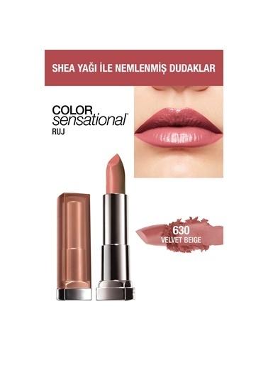 Maybelline Maybelline New York Color Sensational Ruj - 630 Velvet Beige - Nude Pembe Pembe